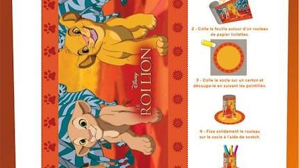 Jeu Le Roi Lion: le pot à crayon (1/2)
