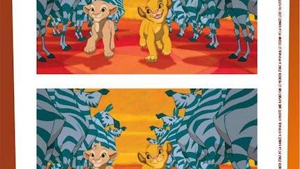 Jeu Le Roi Lion: les 7 différences