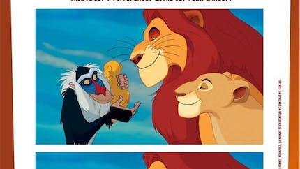 Jeu Le Roi Lion: trouve les 7 différences