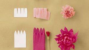 Jolies fleurs en papier crépon