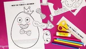 Kit de décoration oeuf de pâques à imprimer
