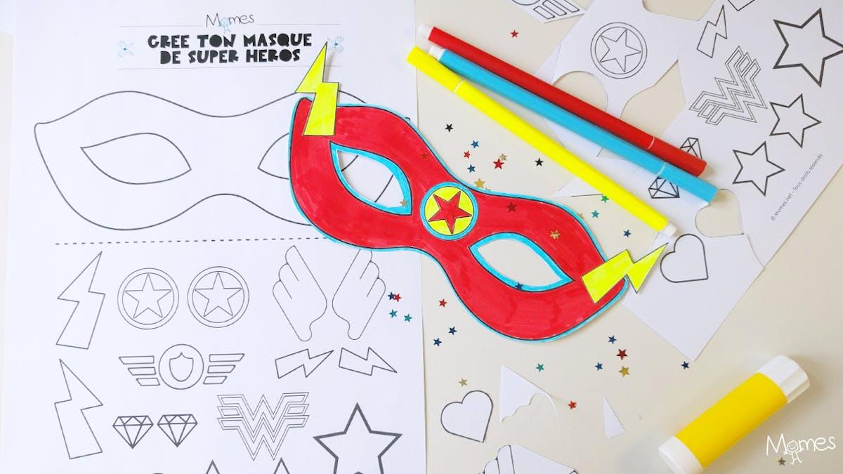 masque super heros à imprimer
