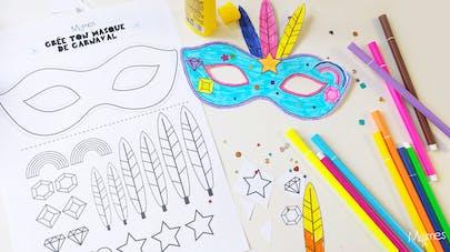 masque carnaval maternelle