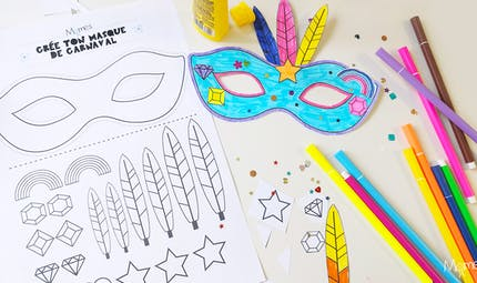 Kit pour faire un masque de carnaval