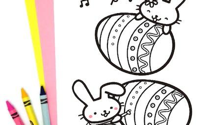 L'atelier de Pâques des lapins