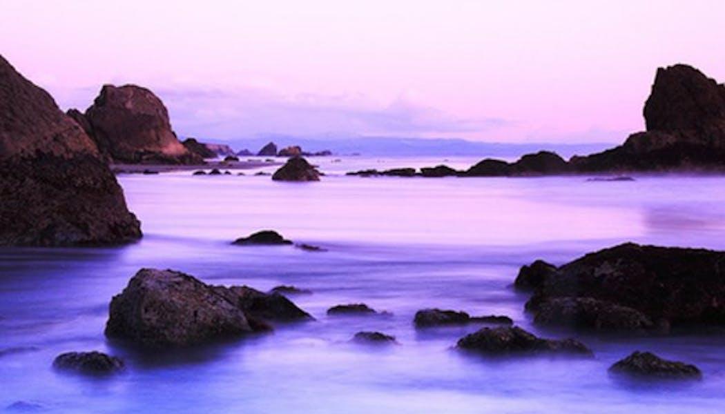 L'eau violette