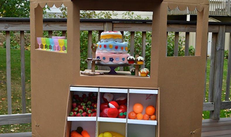 L'échope de fruits et légumes en carton