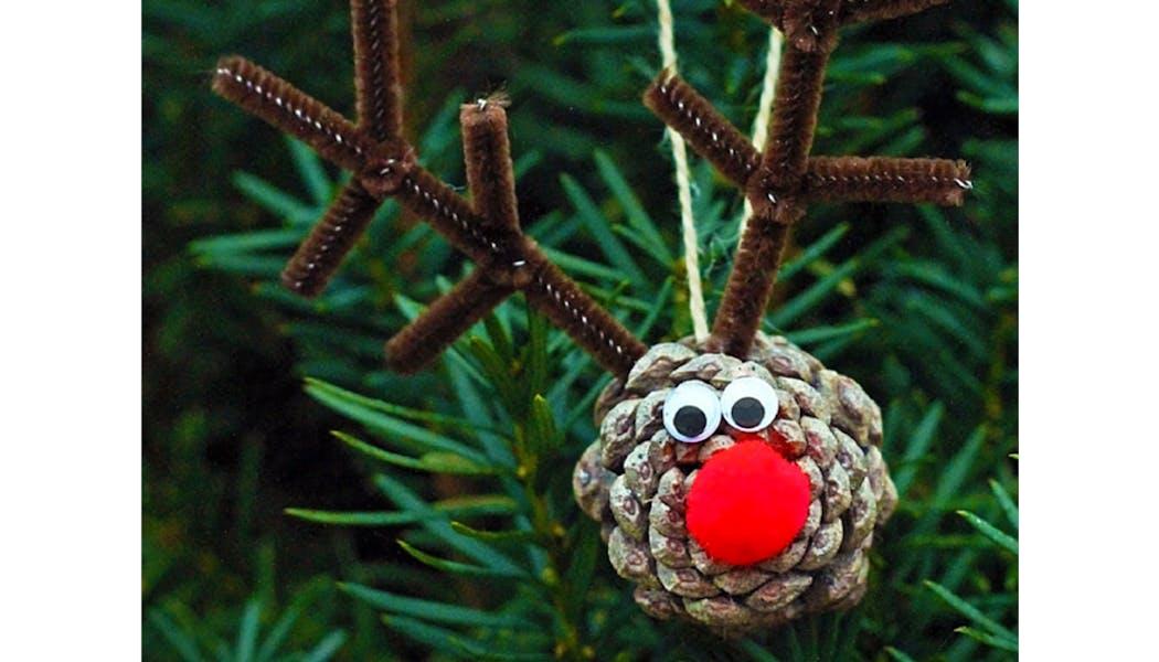 idées décorations Noël rapides simples faciles         dernière minute élan de Noël
