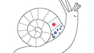 L'escargot fantaisiste - exercice de formes et dessins