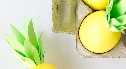 oeufs de paques ananas