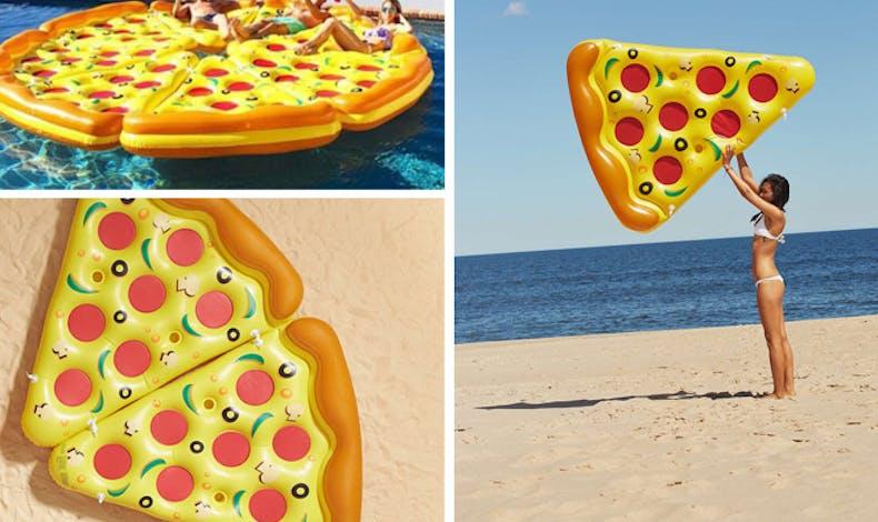 La bouée part de pizza !