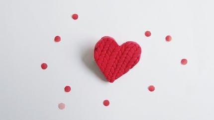 La broche coeur en Fimo