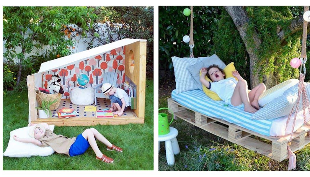cabanes enfants jardin