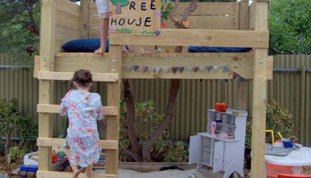 La cabane planches de bois