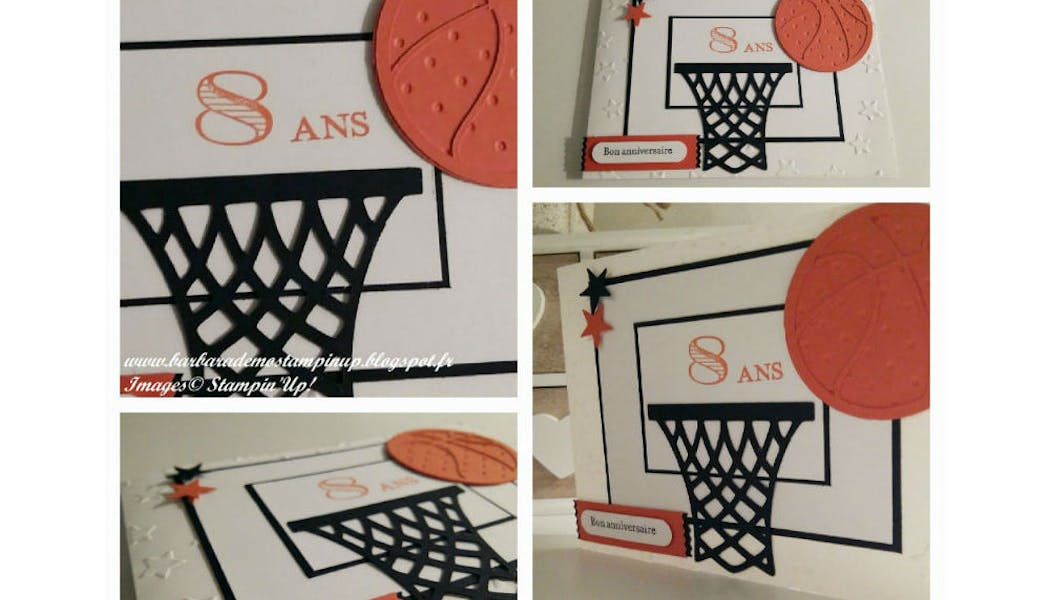 La carte d'invitation « basket-ball »