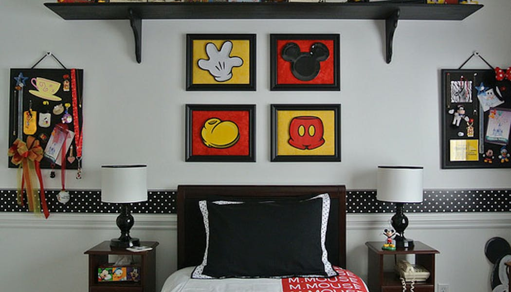 La chambre Mickey Mouse retro