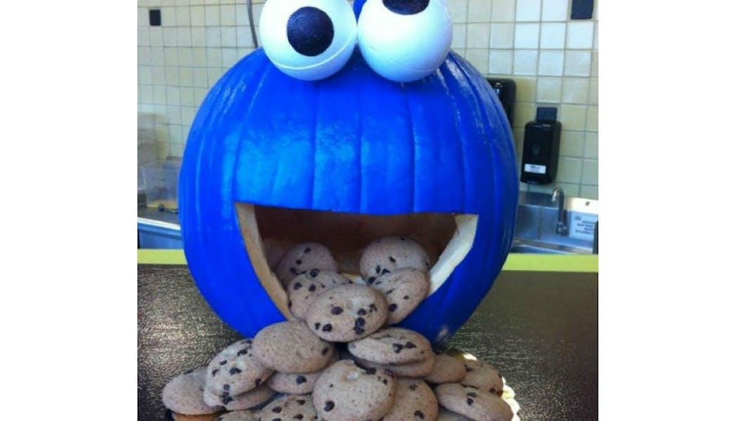 La citrouille Cookie Monster