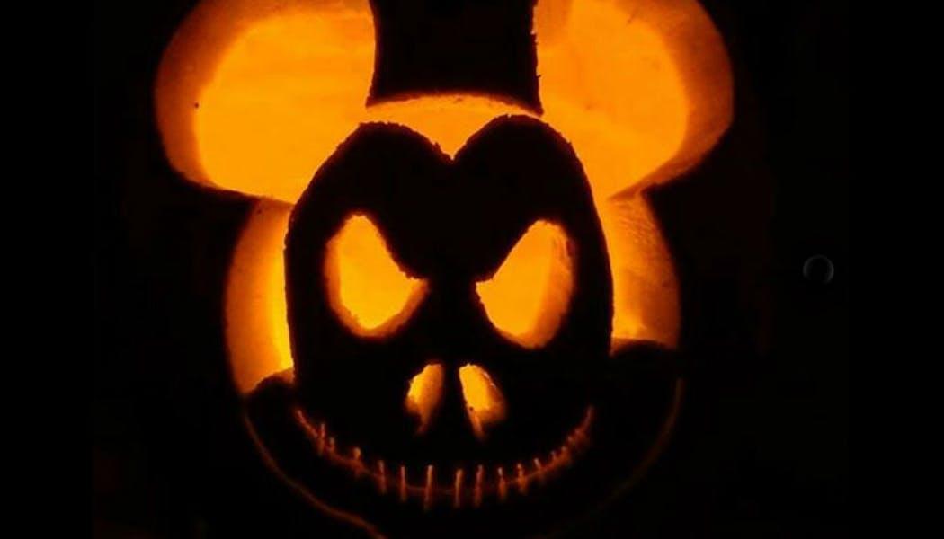 La citrouille méchant Mickey Mouse