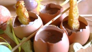 La fondue chocolat et ses mouillettes de pain perdu