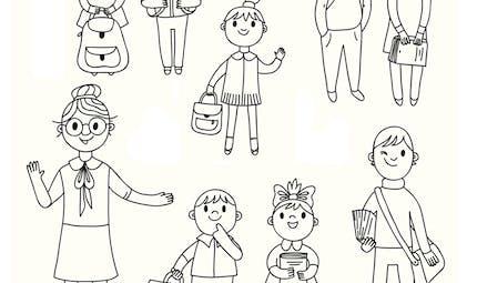 La maitresse et les élèves