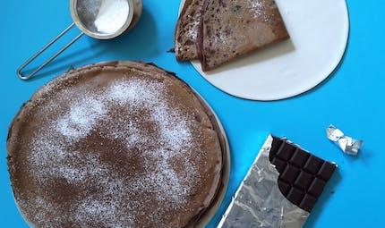 La pâte à crêpes au chocolat