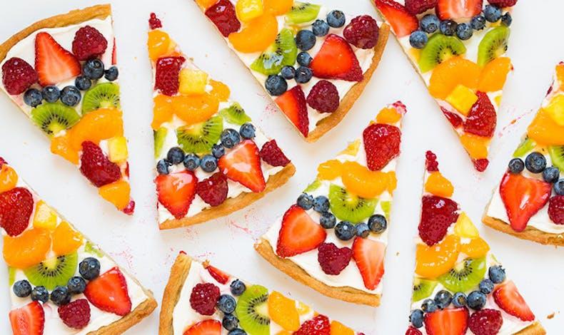 La pizza aux fruits