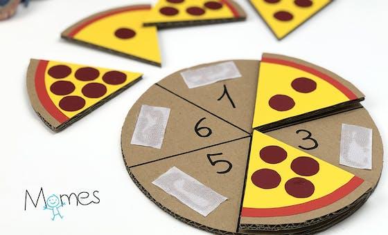 La pizza pour compter (inspiration Montessori)