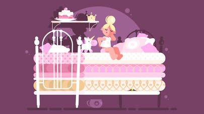 Image princesse aux petits pois