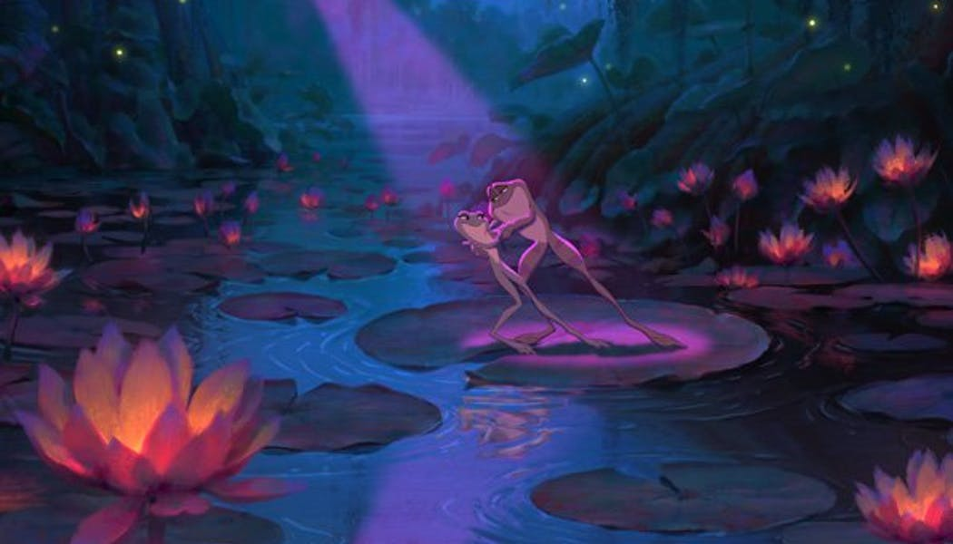 La Princesse et la Grenouille : Les grenouilles       romantiques