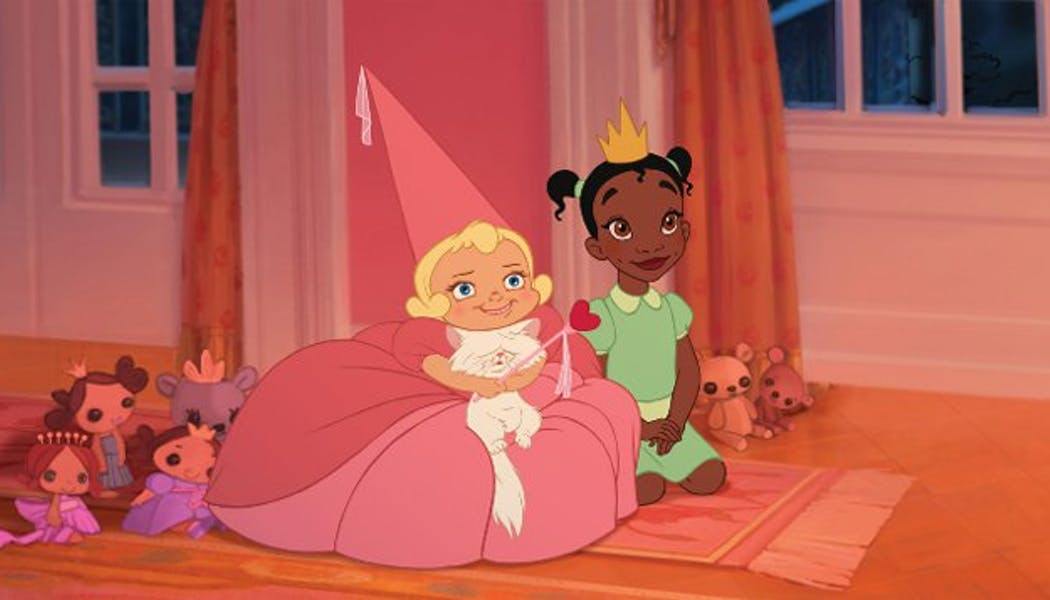 La Princesse et la Grenouille Tiana et Charlotte       enfants