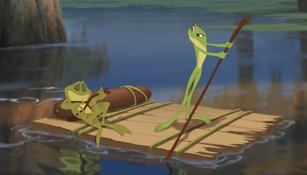 La Princesse et la Grenouille : Tiana et Naveen en       grenouilles