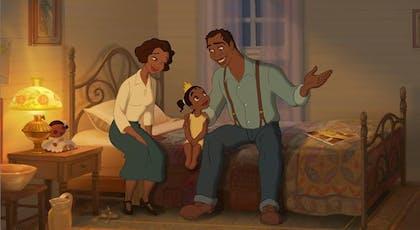 La Princesse et la Grenouille : Tiana et ses       parents