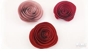 La rose en papier