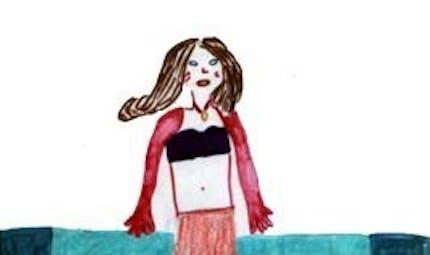 La sirène devenue femme
