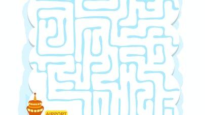 labyrinthe avion
