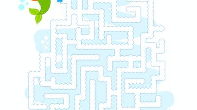 labyrinthe a imprimer sirene
