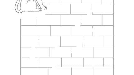 Labyrinthe du petit chat affamé (facile)