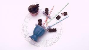 Petits lapins chocolatés à la guimauve