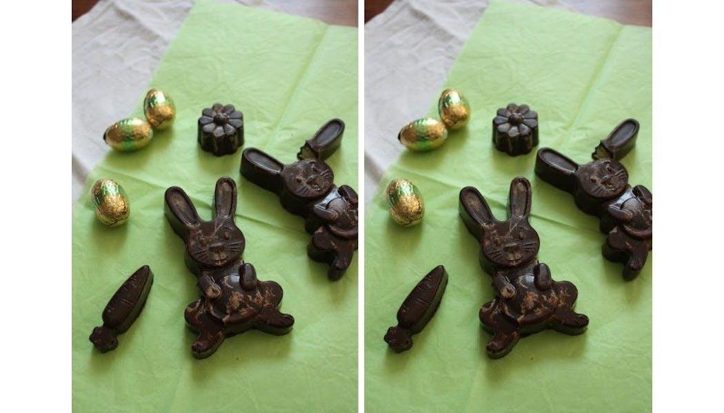 Lapins cacao et pâte d'amandes