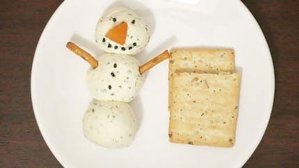 Le bonhomme de neige au Boursin