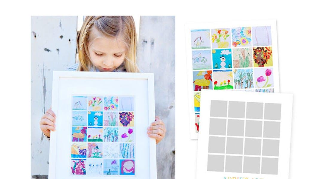 Le cadre de dessins d'enfants
