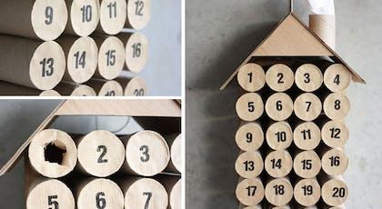 Le calendrier de l'Avent maison en rouleaux de papier         toilette