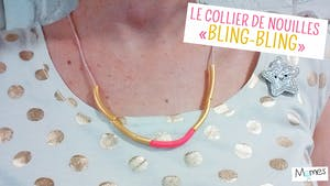 """Le collier de nouilles """"Bling-bling"""" !"""