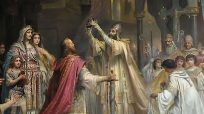 Le sacre de Charlemagne, tableau de Friedrich Kaulbach       (1861)