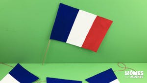Le drapeau tricolore du 14 juillet