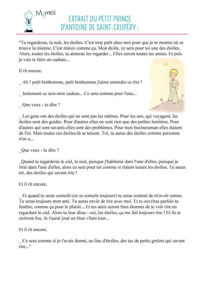 Le Futur De L Indicatif Autour Du Petit Prince Momes Net
