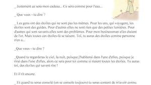 Le futur de l'indicatif - autour du Petit Prince