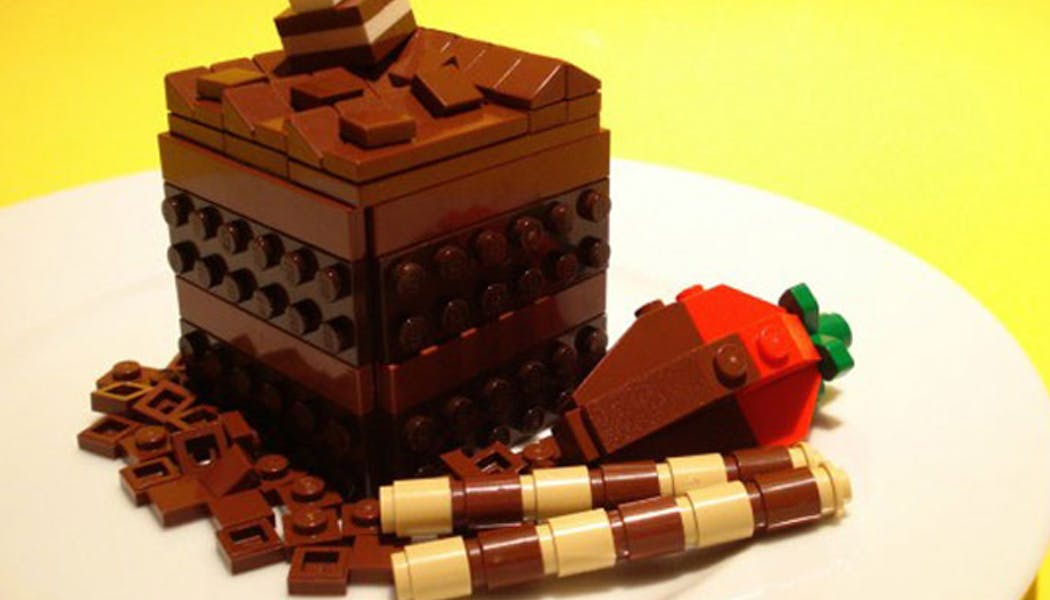 Le gâteau au chocolat LEGO