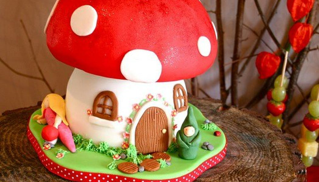 Le gateau d'anniversaire champignon