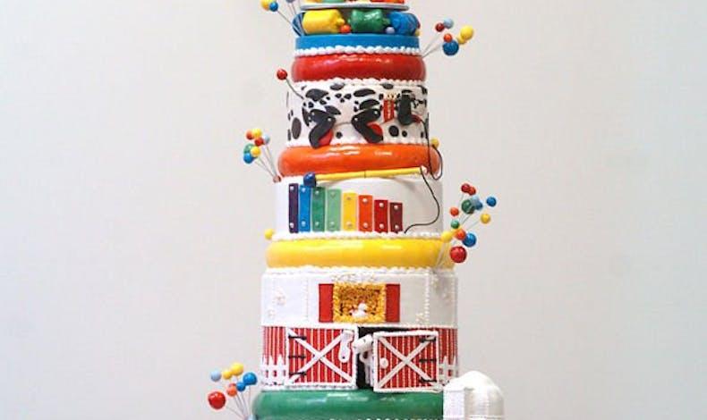 Le gâteau d'anniversaire Fisher Price